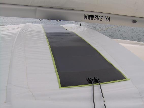Kyocera And Uni Solar Flexible Solar Panel On A Boat Or Yacht